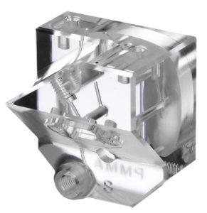 Photo of precision machined acrylic pump head