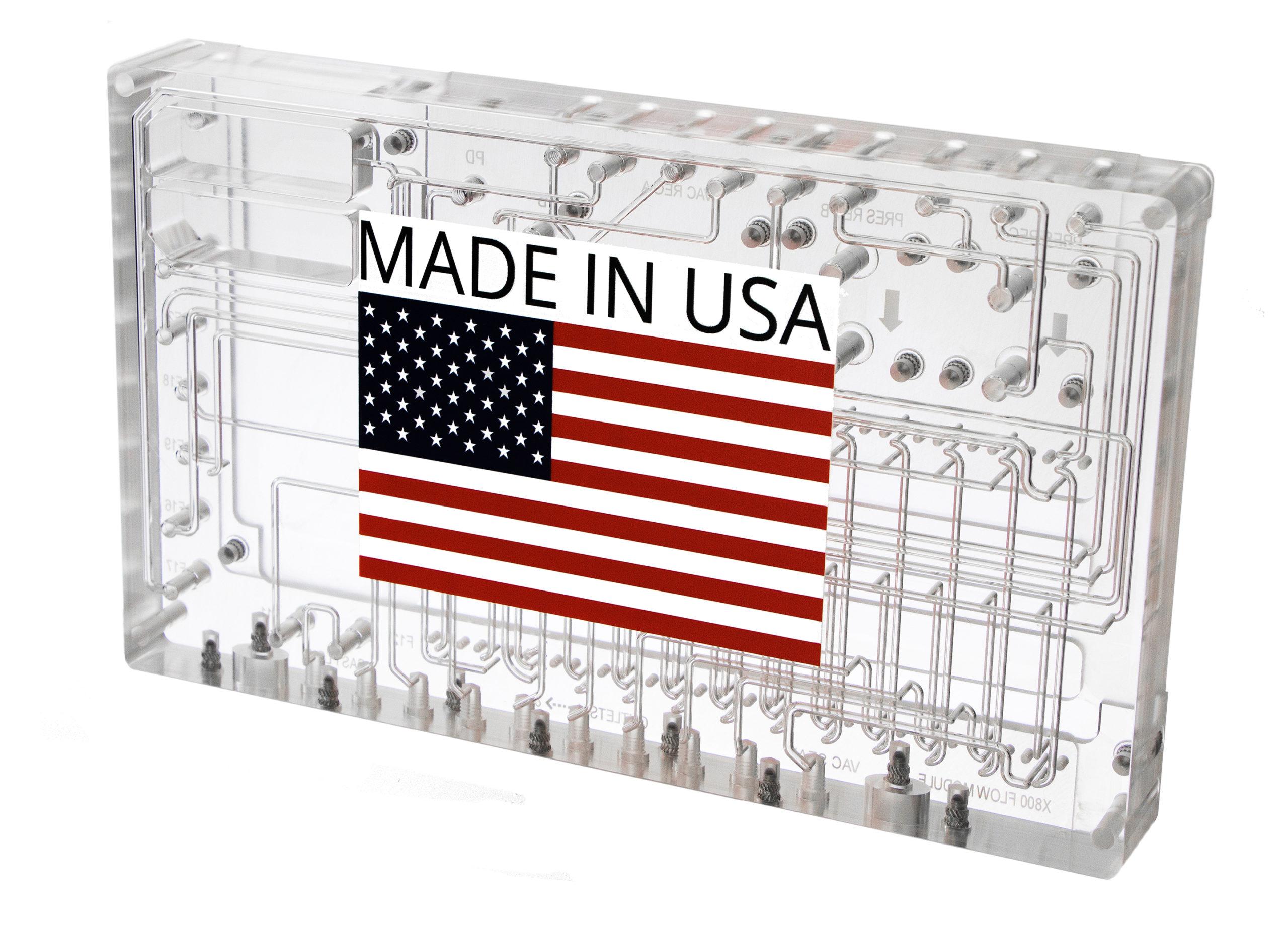 Photo of laminated manifold with printed artwork