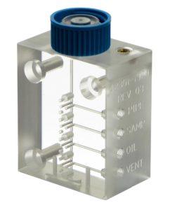 Photo of acrylic drilled manifold