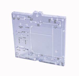 Photo of acrylic manifold with printing